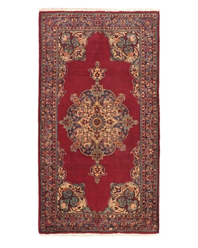 eCarpet Gallery Keisari Rug, Light Burgundy/Navy, 3' 9 x 7'