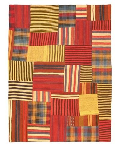 eCarpet Gallery Bohemian Kilim Rug, Red, 4' 9 x 6' 5