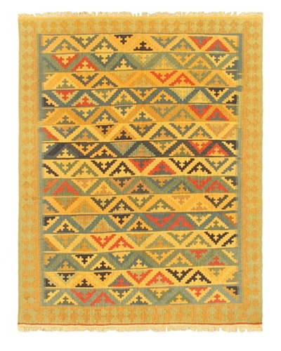 eCarpet Gallery Keisari Kilim, Khaki/Light Blue, 4' 11 x 6' 2