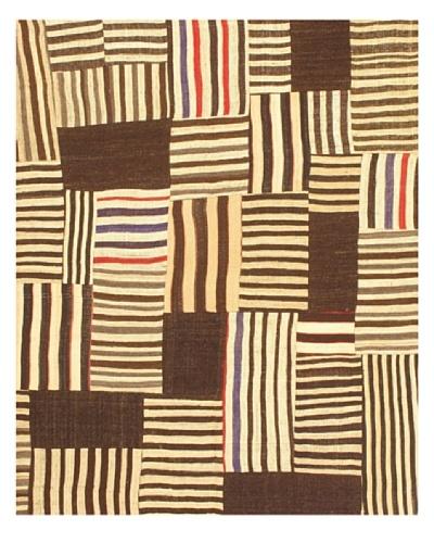 """eCarpet Gallery Bohemian Kilim Rug, Cream/Dark Brown, 5' 2"""" x 6' 3"""""""
