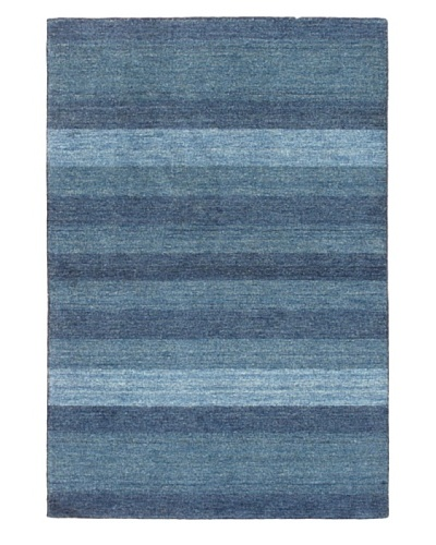 eCarpet Gallery Luribaft Gabbeh Rug, Blue/Light Navy, 4' x 6'