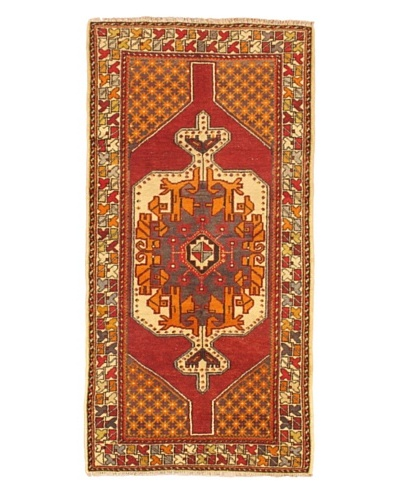 eCarpet Gallery Anatolian Rug, Cream/Light Burgundy, 3' 1 x 7' 8