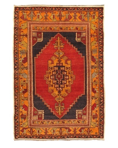 eCarpet Gallery Anatolian Rug, Black Red/Red, 4' 3 x 6' 7