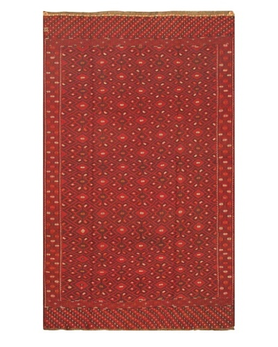 eCarpet Gallery Bahor Sumak, Dark Brown/Red, 6' 6 x 10' 6