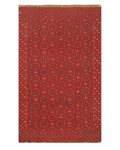eCarpet Gallery Bahor Sumak, Dark Brown/Red, 6' 6 x 10' 6