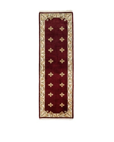 Ecarpetgallery Rugs Karma Open Field Rug, Dark Red, 2' 6 x 7' 6 Runner