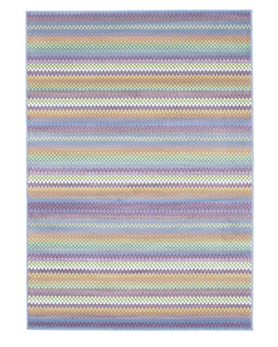 Ecarpetgallery Rugs Chroma Missonia Violet Abstract Rug, Light Blue, 5' 5 x 7' 9