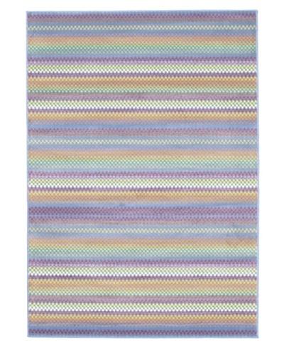 "Ecarpetgallery Rugs Chroma Missonia Violet Abstract Rug, Light Blue, 5' 5"" x 7' 9"""