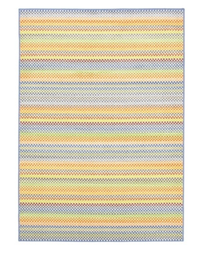 Ecarpetgallery Rugs Chroma Pastel Abstract Rug, Light Blue, 5' 5 x 7' 9