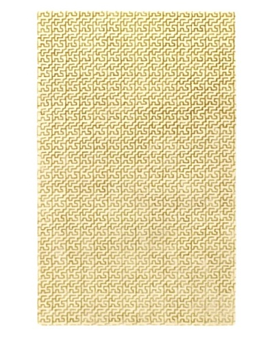 Ecarpetgallery Rugs Minotaur Abstract Rug, Cream Dark Gold, 5' x 8'