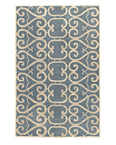 Ecarpetgallery Rugs Renaissance Abstract Rug, Light Blue, 5' x 8'