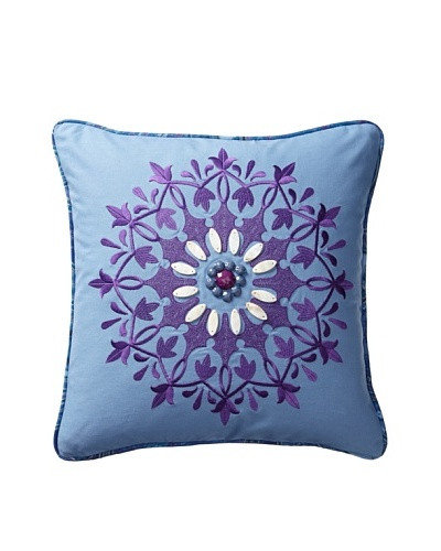 Echo Jakarta Decorative Pillow, Chambray Blue/Purple