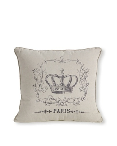 Crown Motif Pillow