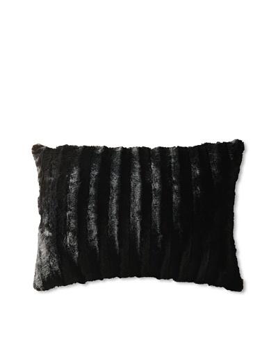 Faux Black Fur Pillow
