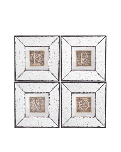 Set Of 4 Mirror Art