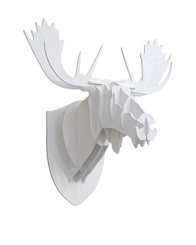 Eco Décor Laser-Cut Animal Trophy Reindeer Head, White