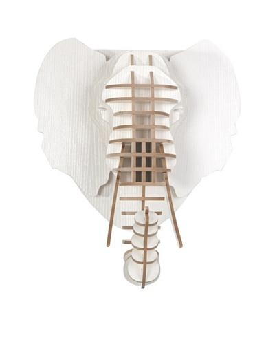 Eco Décor Laser-Cut Animal Trophy Elephant Head, White
