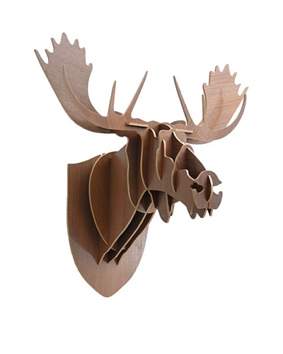 Eco Décor Laser-Cut Animal Trophy Reindeer Head- Oak