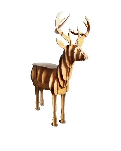 Eco Décor Standing Animal Oak Decorative Deer Table