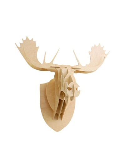 Eco Décor Laser-Cut Animal Trophy Reindeer Head, Maple