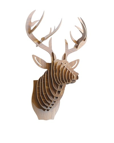 Eco Décor Laser-Cut Animal Trophy Deer Head, Oak