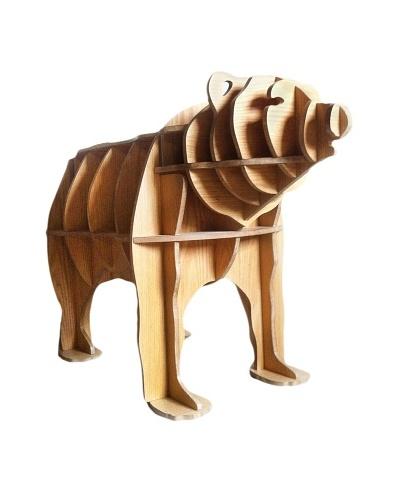 Eco Décor Standing Animal Oak Decorative Bear Table