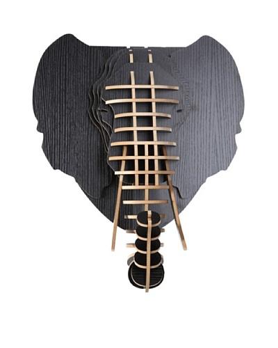 Eco Décor Laser-Cut Animal Trophy Elephant Head, Black