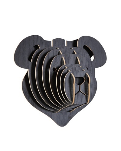 Eco Décor Laser-Cut Animal Trophy Teddy Bear Head, Black