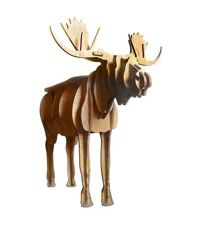 Eco Décor Standing Animal Oak Decorative Reindeer Table