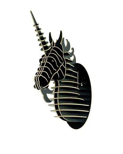 Eco Décor Laser-Cut Animal Trophy Unicorn Head, Black