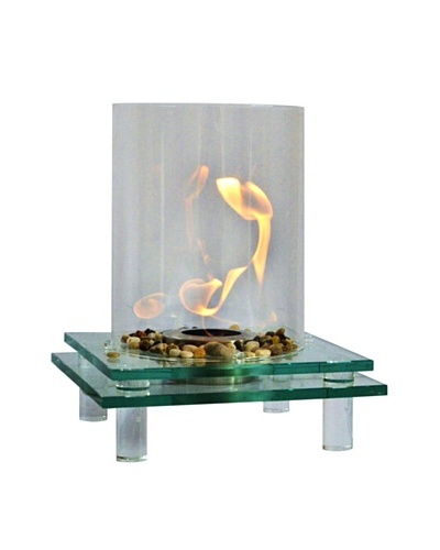 Eco-Flame 2-Layer Tempered Glass Tabletop Fire Bowl