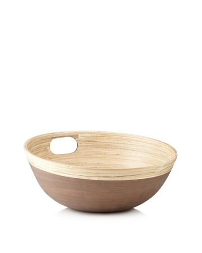 Ecorce d'Orange Hand-Painted Bamboo Salad Bowl