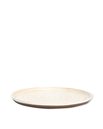 Ecorce d'Orange Hand-Painted Bamboo Tray [Cuir]