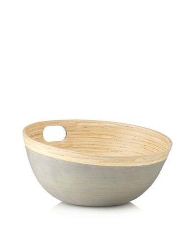 Ecorce d'Orange Hand-Painted Bamboo Salad Bowl [Granite]