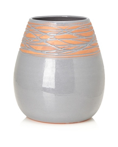 Ecorce d'Orange Hand-Made Ceramic Vase [Grey]