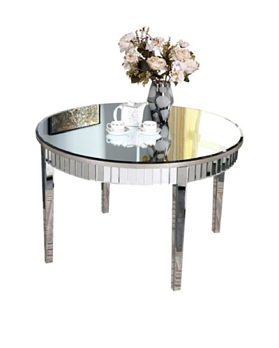 Mirage Round Table, Silver Leaf
