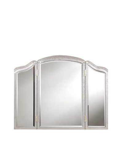 Camille 3-Fold Mirror Accented Wall Mirror, Silver Leaf