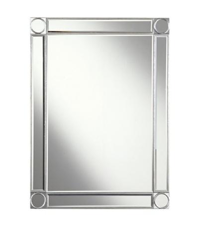 Audrey Mirror Accented Rectangular Mirror, Silver Leaf