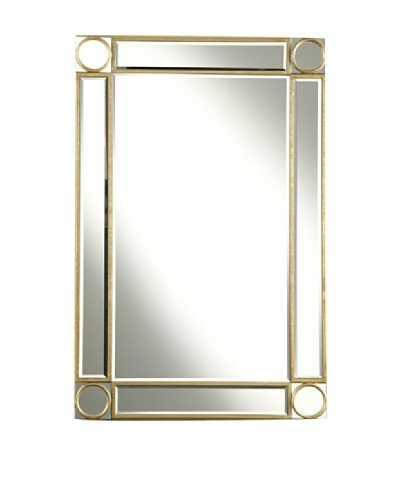 Audrey Mirror Accented Rectangular Mirror, Gold Leaf