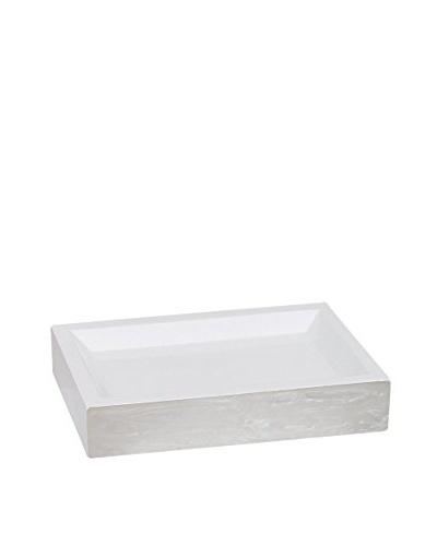 Elegant Home Fashions Legend Soap Dish, Turtledove/Pearl
