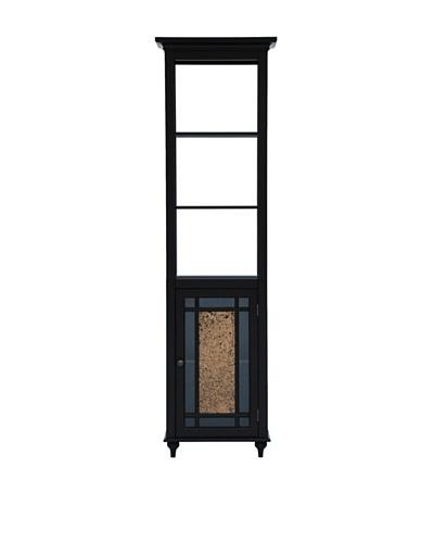Elegant Home Fashions Whitney Linen Tower, Dark Espresso