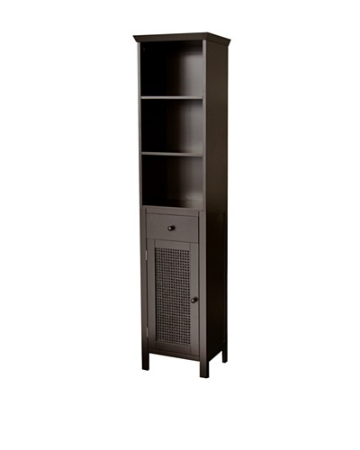 Elegant Home Fashions Savannah Linen Tower, Dark Espresso