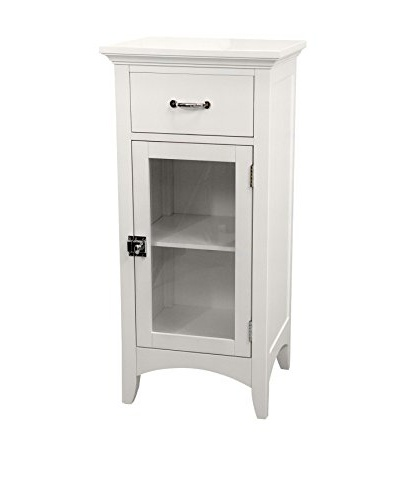 Elegant Home Fashions Madison Avenue Floor Cabinet with Door & Drawer, White