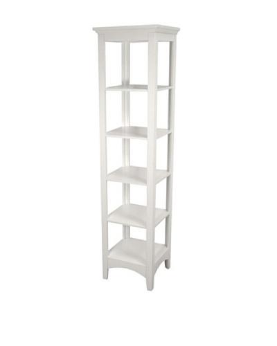 Elegant Home Fashions Madison Avenue 5-Shelf Linen Tower, White