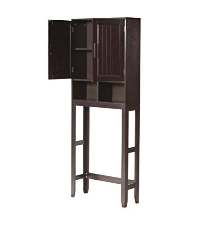 Elegant Home Fashions Catalina Wall Cabinet, Dark Espresso
