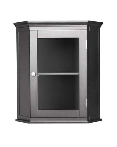 Elegant Home Fashions Madison Avenue Corner Wall Cabinet, Espresso