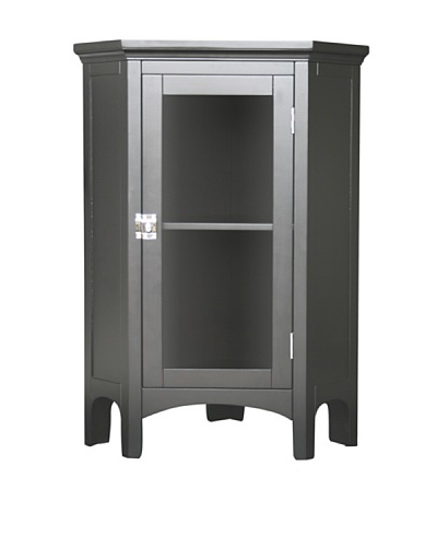 Elegant Home Fashions Madison Avenue Corner Floor Cabinet, Espresso