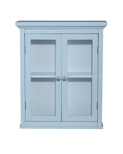 Elegant Home Fashions Madison Avenue Wall Cabinet with 2 Doors, Eton Blue