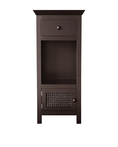Elegant Home Fashions Savannah Floor Cabinet, Dark Espresso