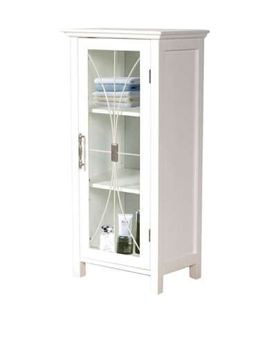 Elegant Home Fashions Delaney Floor Cabinet with Door, White